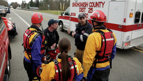 Работа спасателей в США