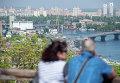 Панорама Киева из парка Владимирская горка