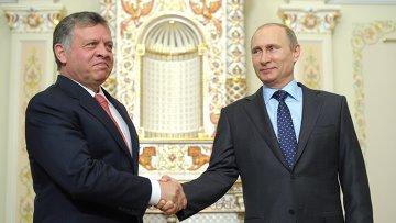 Встреча В.Путина с королем Иордании Абдаллой II. Архивное фото
