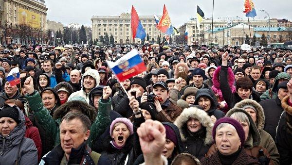 Митинг сторонников федерализации Украины, архивное фото
