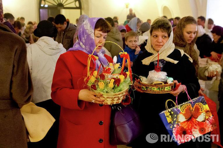 Празднование Пасхи в Томске
