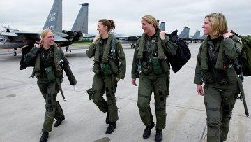 Женщины-пилоты ВВС США. Архивное фото