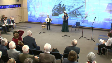 Детский фестиваль патриотической песни Катюша в МИА Россия сегодня