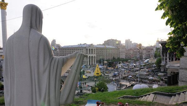 Вид на площадь Независимости в Киеве. Архивное фото