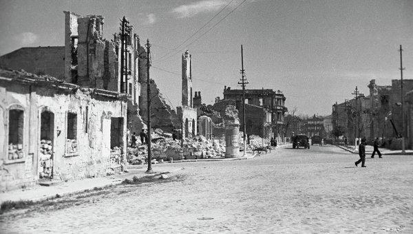 Освобождение Севастополя от немецко фашистских захватчиков РИА  Руины Севастополя Великая Отечественная война 1941 1945 годов Руины Севастополя