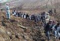 Последствия схода оползня в Афганистане