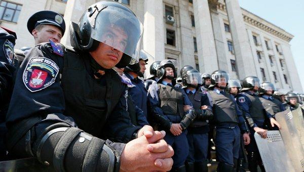Украинская милиция в Одессе, архивное фото