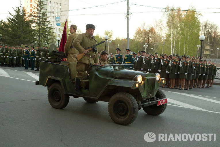 Репетиция Парада Победы в Томске