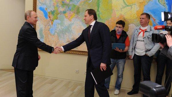 В.Путин встретился с Л.Кузнецовым в Сочи