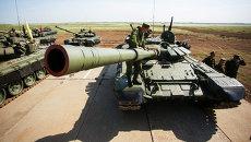 Соревнования по танковому биатлону в Волгоградской области