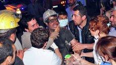 Пострадавший при обрушении шахты в населенном пункте Сома, Турция