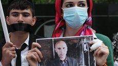 Акция в поддержку задержанных на Украине российских журналистов
