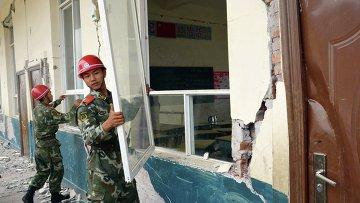 Последствия землетрясения в Китае. Архивное фото.