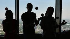 Шоу жонглеров На высоте на Останкинской телебашне