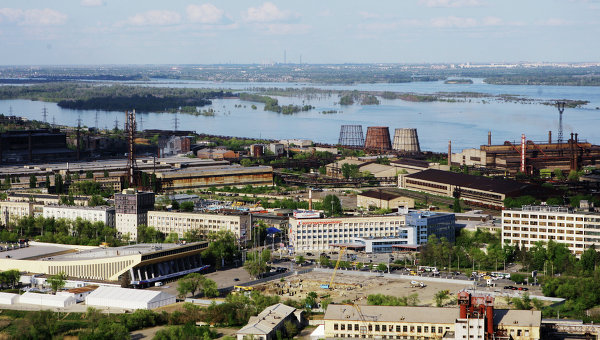 Вид на металлургический завод Красный октябрь