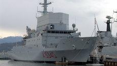 Разведывательный корабль Военно-морских сил Италии Элеттра, архивное фото