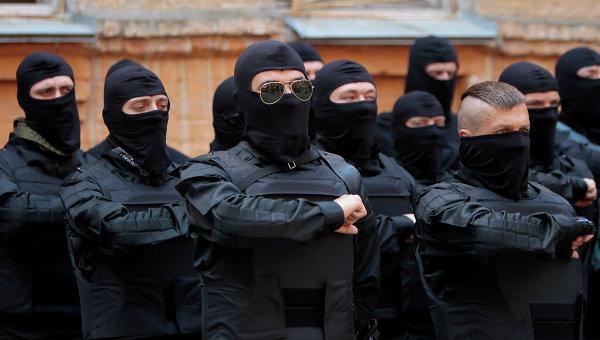 Члены Правого сектора . Архивное фото