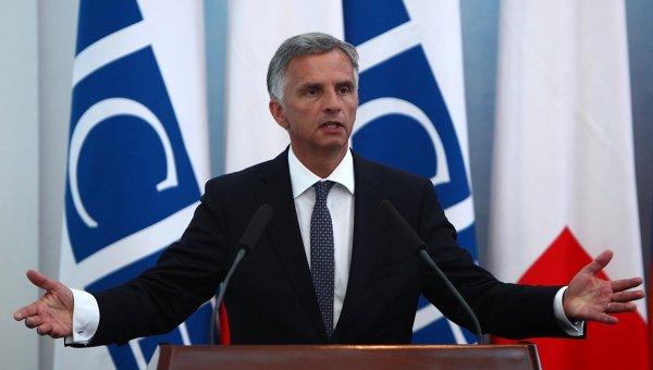 Действующий председатель ОБСЕ, министр иностранных дел и президент Швейцарии Дидье Буркхальтер. Архивное фото