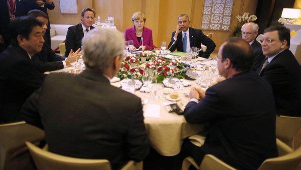 Главы стран участников G7 на саммите в Брюсселе, Бельгия. Архивное фото