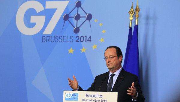 Президент Франции Франсуа Олланд на саммите G7 в Брюсселе. Архивное фото