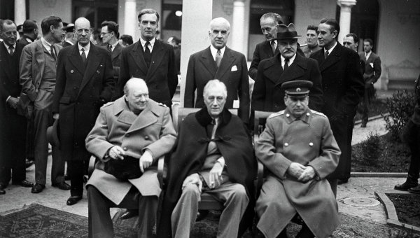 Ялтинская (Крымская) конференция союзных держав. Архивное фото