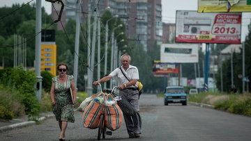 Беженцы из Славянска, архивное фото