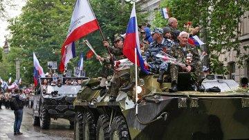 Парад Победы в Симферополе. Архивное фото