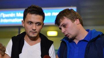 Корреспондент телеканала Звезда Евгений Давыдов и звукоинженер Никита Конашенков после освобождения