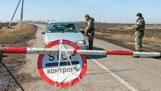Украинские военные на границе с Россией. Архивное фото