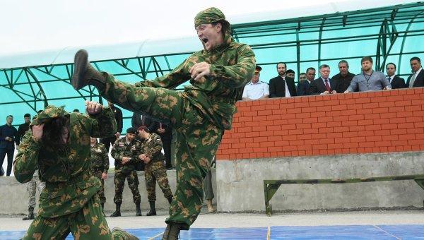 Показательные выступления специального подразделения имени Ахмата Кадырова. Архивное фото