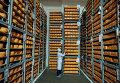 Головы сыра на складе предприятия в Черниговской области Украины
