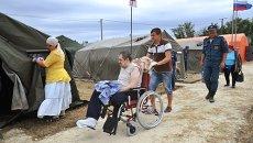 Пункт пропуска и лагерь для беженцев из Украины. Архивное фото