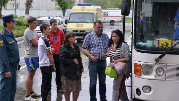 Беженцы из Луганской области. Архивное фото