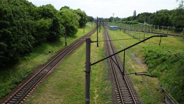 Железная дорога на востоке Украины. Архивное фото