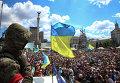 """Член """"Правого сектора"""" на демонстрации в Киеве"""