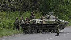 Украинские военные начали штурм города Славянска. Архивное фото