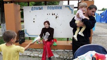 Лагерь МЧС для беженцев в Симферополе. Архивное фото