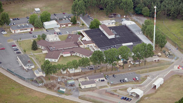 Здание Dagger Complex в Грисхайм, Германия имеющее отношение к Агентству национальной безопасности США. Архивное фото