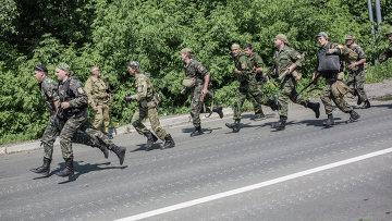 Бойцы батальона народного ополчения Восток. Архивное фото