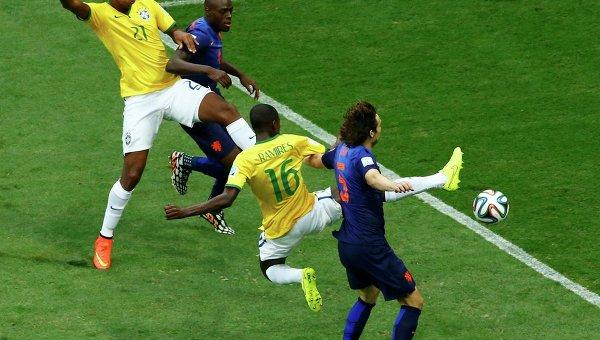 Матч Бразилия - Голландия на ЧМ по футболу 2014