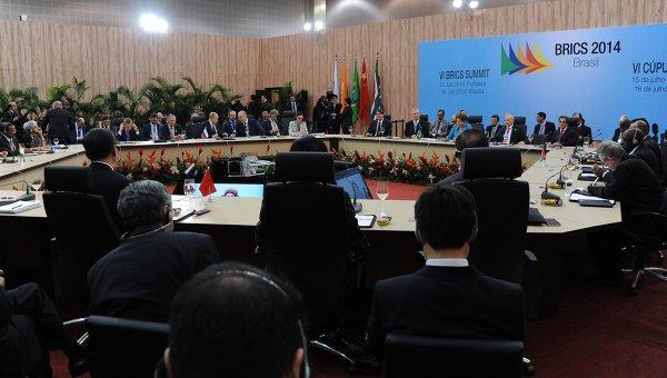 Заседание саммита лидеров стран БРИКС