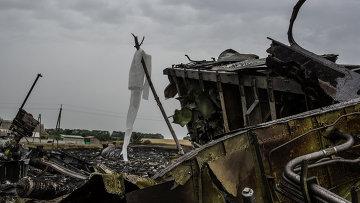 Обломки Boeing 777 компании Malaysia Airlines. Архивное фото.