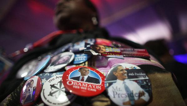 Значки с изображением президента США Барака Обамы. Архивное фото