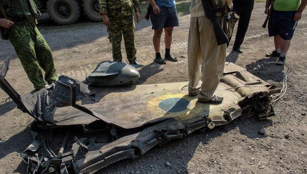 Фрагмент крыла украинского истребителя, архивное фото