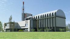 Макет главного здания многоцелевого исследовательского реактора МБИР