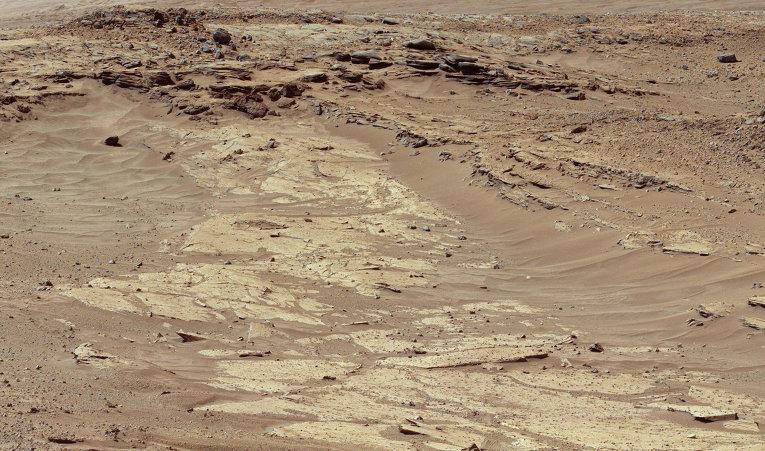 Снимок поверхности планеты Марс сделанный марсоходом Curiosity