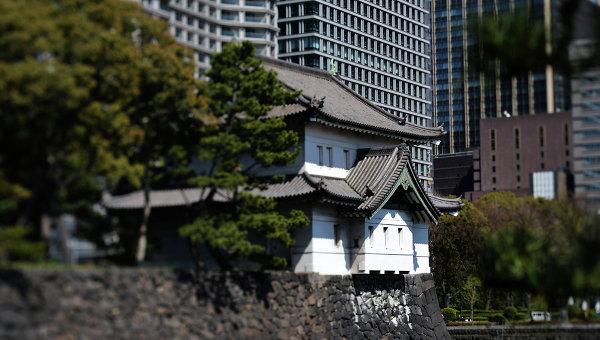 Комплекс зданий Императорского дворца в городе Токио