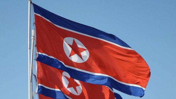 Флаг Северной Кореи, архивное фото