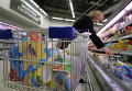 Молочная продукция в московском супермаркете