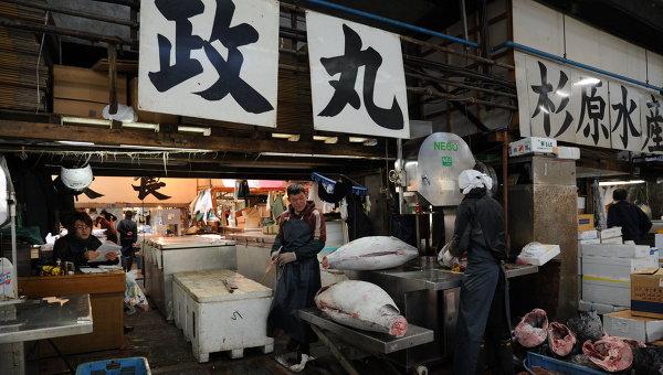 Рыбный рынок Цукидзи в Токио. Архивное фото